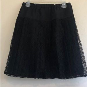 Dresses & Skirts - Gorgeous Black skirt with lots of LACE!